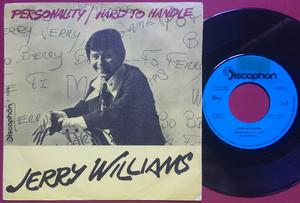 JERRY WILLIAMS - Personality SPANISH(!) PS 1970