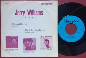 JERRY WILLIAMS - Personality SPANSK(!) PS 1970