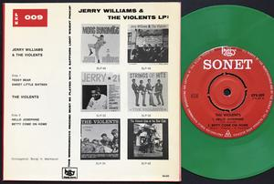 JERRY WILLIAMS & VIOLENTS - Teddy bear +3 Swe EP 1964