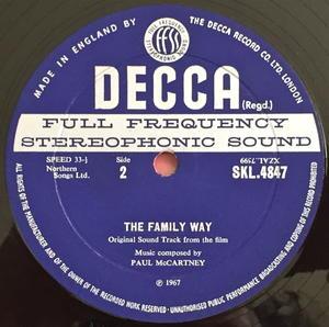 BEATLES PAUL McCARTNEY - The family way UK-orig STEREO LP 1967
