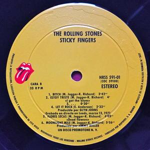 ROLLING STONES - Sticky fingers Spanskt orig LP 1971 UNIKT OMSLAG