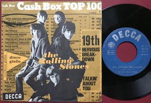 ROLLING STONES - 19th nervous breakdown / Talkin´ bout you Italien PS 1966