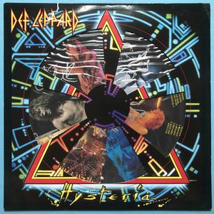 DEF LEPPARD - Husteria SIGNED UK-orig Pic disc LP 1988