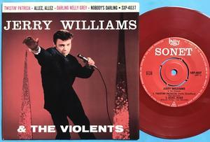 JERRY WILLIAMS - Twistin Patricia +3 Swe EP 1963