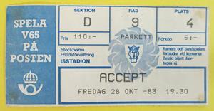 ACCEPT - Stockholm 1983