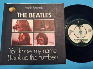 """BEATLES - Let it be 7"""" Swe 1970"""