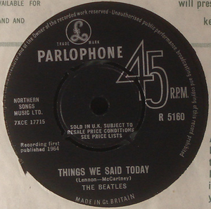 "BEATLES - A hard day´s night 7"" UK 1964"