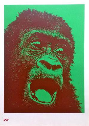 G.L. UNIT - Orangutang! KONSUM Apa (ca 1970) Brun / grön