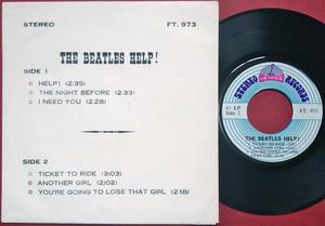 BEATLES - Help! + 5! Rare Thai EP 1965