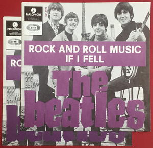 "BEATLES -  Rock And Roll Music PURPLE 7"" Swe-65 PS ONLY - Archive copy / MINT-!"