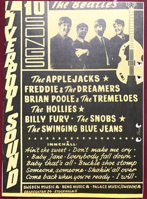 BEATLES Applejacks FREDDIE & DREAMERS Hollies SWINGING BLUE JEANS Billy Fury mfl. ca 1964 svenskt Nothäfte