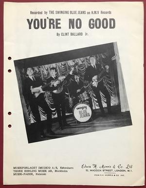 SWINGING BLUE JEANS - You´re no good Nothäfte 1964