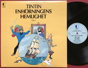 TINTIN - Enhörningens hemlighet Swe LP 1974