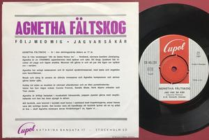 AGNETHA FÄLTSKOG - Följ med mig Swe PS 1967