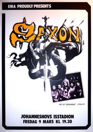 SAXON (1985) Konsertaffisch