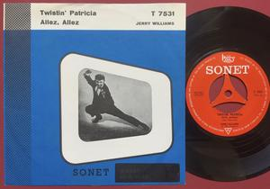 JERRY WILLIAMS - Twistin´ Patricia Dansk PS 1963