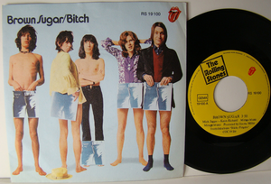 "ROLLING STONES - Brown sugar 7"" Ger PS  1971"