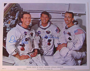 Autographs - First manned Apollo crew