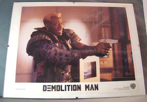 WESLEY SNIPES DEMOLITION MAN AUTOGRAPH - WARNER BROS 1993