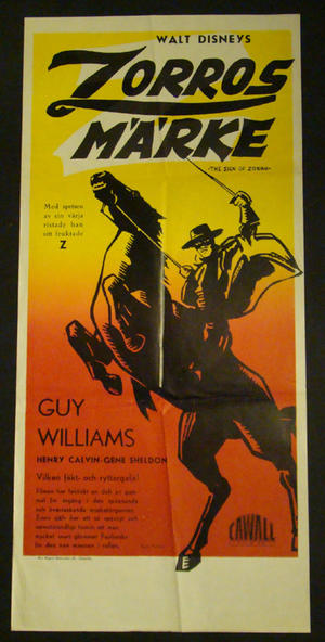 THE SIGN OF ZORRO (DISNEY - GUY WILLIAMS)