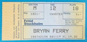 BRYAN FERRY - Stockholm 1988