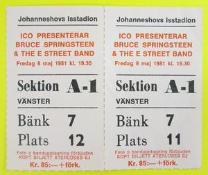 BRUCE SPRINGSTEEN - Stockholm 1981 x 2