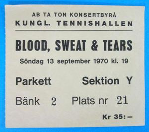 BLOOD, SWEAT & TEARS - Stockholm 1970