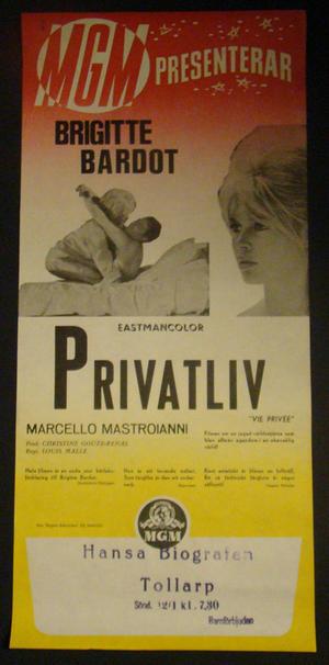 PRIVATLIV (BRIGITTE BARDOT)