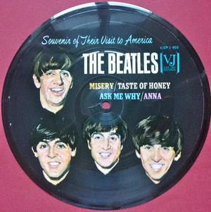"""BEATLES - """"Souvenir of their visit to America"""" USA Pic disc EP"""