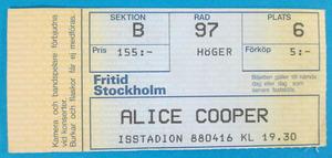 ALICE COOPER - Stockholm 1988