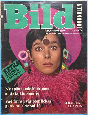 "BILDJOURNALEN - no 10 1967 with Red squares ""Elephant""-POSTER"