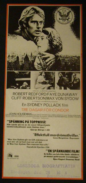 THREE DAYS OF CONDOR (ROBERT REDFORD)