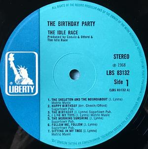 IDLE RACE - The Birthday party UK-orig LP 1968