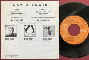 DAVID BOWIE - Wild is the wind Spansk PS 1981