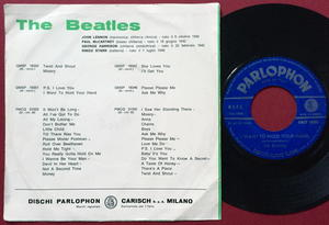 "BEATLES - P.S. I love you/I want to hold your hand 7"" Italy PS 1963"