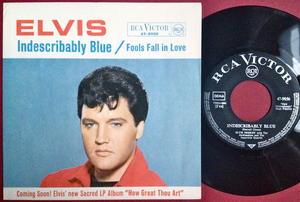 "ELVIS PRESLEY - Indescribably blue 7"" Ger PS 1967"