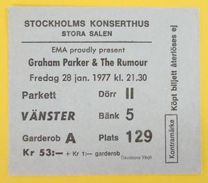GRAHAM PARKER & THE RUMOUR - Stockholm 1977