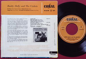 BUDDY HOLLY & CRICKETS - Oh boy! + 3 Ger Coral EP 1958