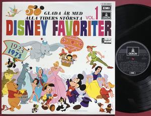 WALT DISNEY - 50 glada år med alla tiders största Disneyfavoriter vol. 1 Swe-orig LP 1973