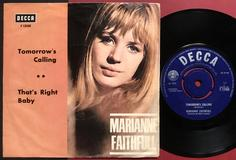 MARIANNE FAITHFULL - Tomorrow´s calling Swe PS 1966