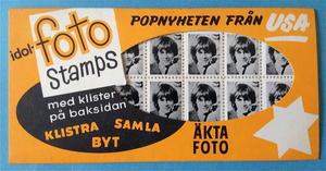 ROLLING STONES - Brian Jones RARE Photo-stamps Sverige 1964