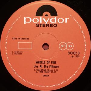 CREAM - Wheels of fire UK-orig 2LP 1968