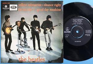 BEATLES - Yellow Submarine +3 RARE Swe EP 1967