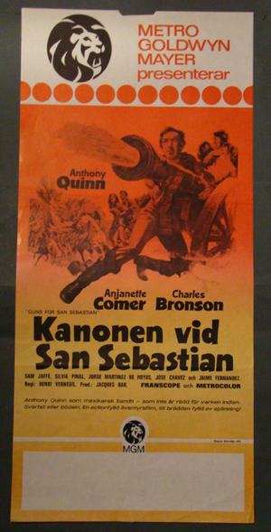 GUNS FOR SAN SEBASTIAN (CHARLES BRONSON, ANTHONY QUINN)