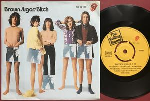 """ROLLING STONES - Brown sugar 7"""" PUSH-OUT center Ger PS  1971"""