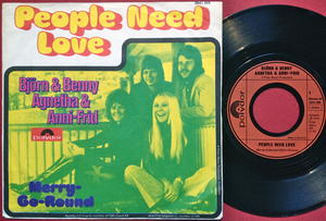ABBA - People need love Tysk PS 1972