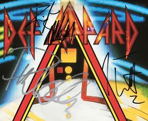 "DEF LEPPARD - Hysteria SIGNERAD 7"" 1987"