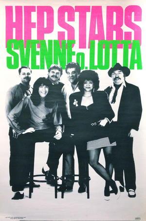 HEP STARS - SVENNE & LOTTA (1970´s) Turneaffisch