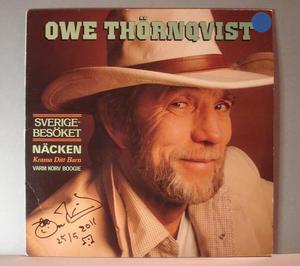 OWE THÖRNQVIST - Sverigebesöket  Signerad LP
