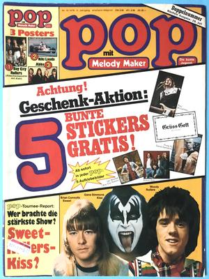 POP - Nr 13/14 1976 KISS/Gene / SWEET Andy omslag